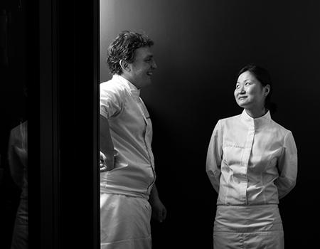 Chef Chiho Kanzaki and Chef Marcelo di Giacomo