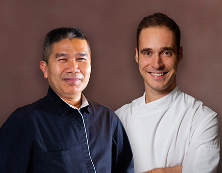 Chef Pisit 'Jino' Jinopong and Chef Rick Dingen